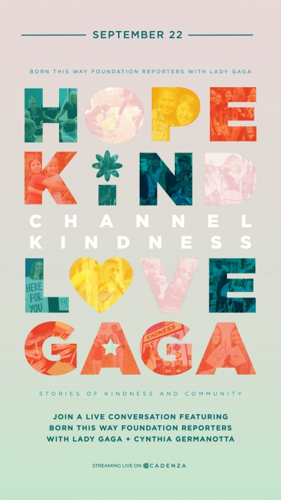 channel hope event with Lady Gaga and Cynthia Germanotta Flier for 9/22