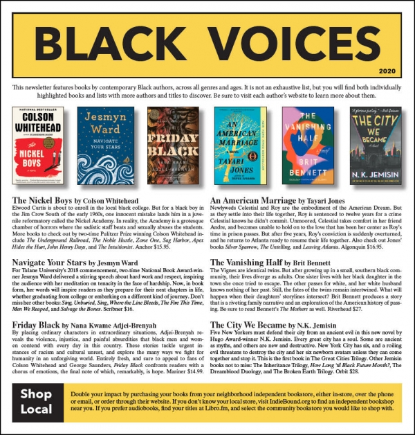 Black Voices Newsletter cover - PDF link at bottom of window