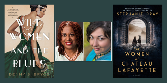 graphic for historical fiction author event with Denny S. Bryce and Stephanie Dray