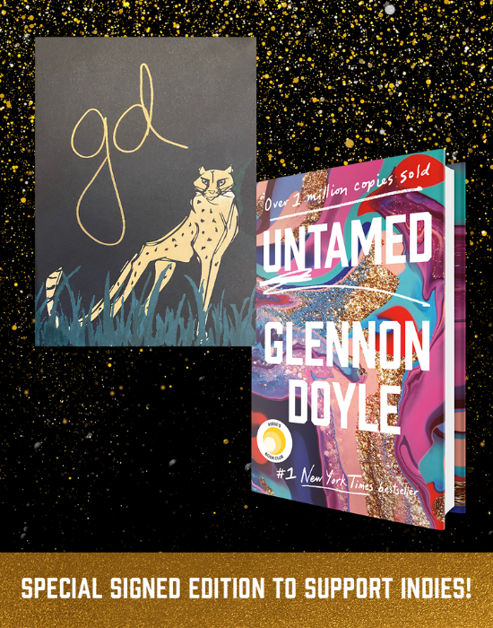 glennon doyle special edition signed with limited edition cheetah art banner