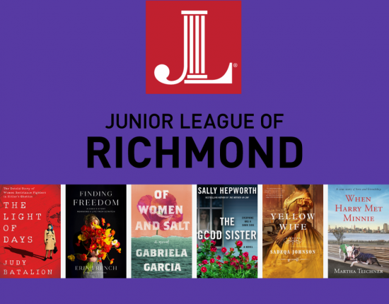 junior league book and author 2021 image with book jackets and logo