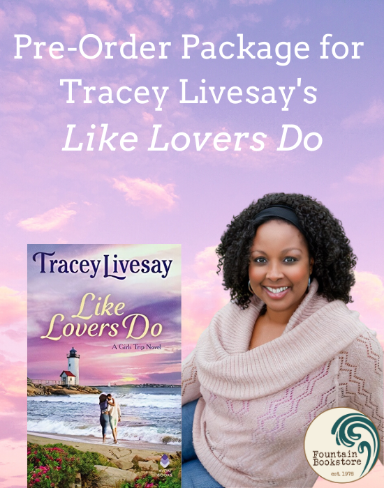 Tracey Livesay Like Lovers Do Pre-Order Package, headshot of Tracey and book cover.